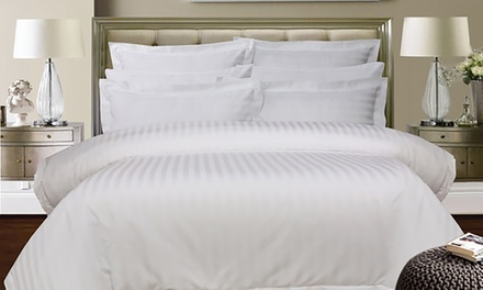 1,000 Thread Count Cotton Stripe Sheet Set or Quilt Cover Set   Queen ($49) or King Size ($59)