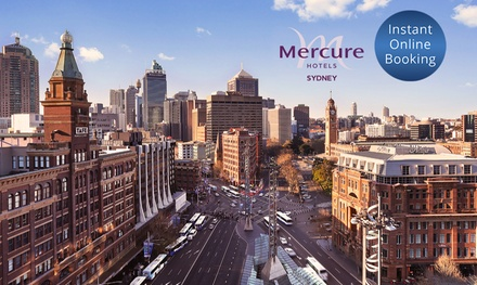 Sydney CBD: 4* Stay for 1, 2 or 3 Nights for Up to 2 Adults & 2 Children with Breakfast & Late Check Out, Mercure Hotel