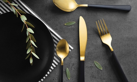 Milano Decor Cutlery Set: 16 Piece ($25) or 32 Piece ($45) (Dont Pay up to $198)