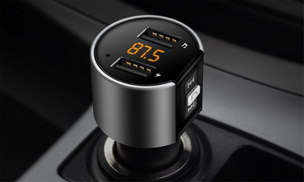 Hands Free Wireless Bluetooth Car Kit FM Transmitter: One ($19.95) or Two ($34.95)