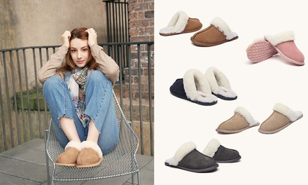 $35 for a Pair of Unisex Australian Sheepskin UGG Scuffs (Dont Pay $99)