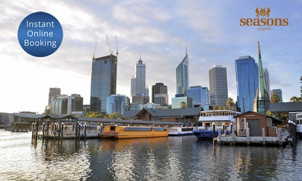 Perth City: 1  or 2 Night CBD Stay for Two People with Breakfast and Bottle of Wine at Seasons of Perth
