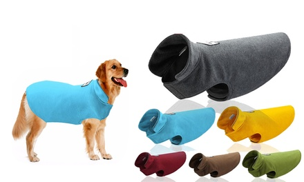 From $12 for a Warm Winter Fleeced Pet Coat in Choice of Size and Colour