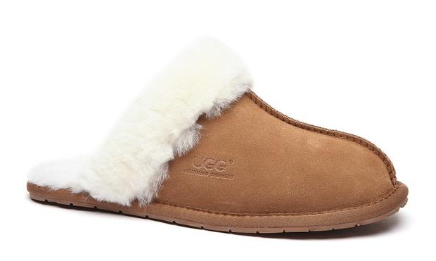 $35 for a Pair of Unisex Australian Sheepskin UGG Scuffs (Dont Pay $99)
