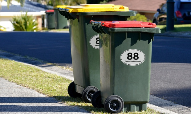 6 Pack of Wheelie Bin Stickers: One ($4.95), Two ($8.95) or Three ($12.95) (Don't Pay up to $74.85)