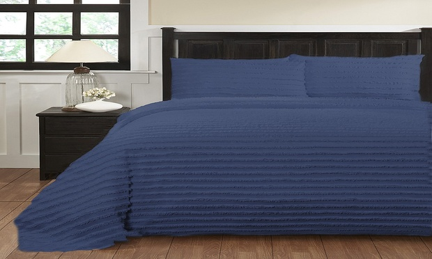 Renee Taylor Helena 250TC 100% Cotton Tufted Quilt Cover Set: Queen ($49), King ($59) or Super King ($69)