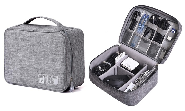 Charging Cable Travel Organiser Bag: One ($14) or Two ($22)