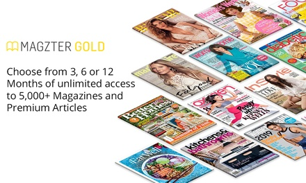 Unlimited Digital Magazines Access: 3  ($14.99), 6 ($19.99) or 12 Months ($29.99) from Magzter (Up to $99.99 Value)