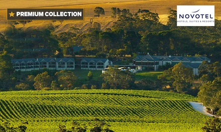 Barossa Valley: 1  or 2 Night Vineyard Getaway for Two with Breakfast and Drinks at Novotel Barossa Valley Resort