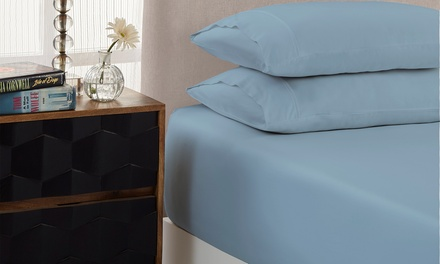 1500TC Hotel Quality Cotton Rich Fitted Sheet Set: Single ($29), Double ($32), Queen ($35) or King ($39) (Dont Pay up to $129.95)