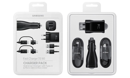 Samsung Fast Charge Charger Packs: One ($24.95) or Two ($44.95) (Dont Pay up to $179.90)