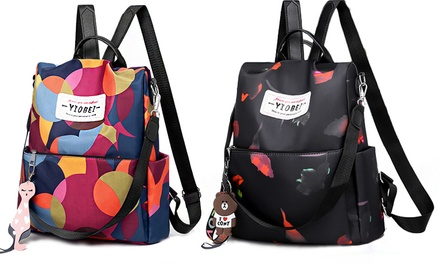 Womens Printed Anti Theft Travel Backpack: One ($24.95) or Two ($39.95)