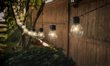 Solar Powered Retro Style String Light Bulbs: One ($16) or Two ($29) Sets