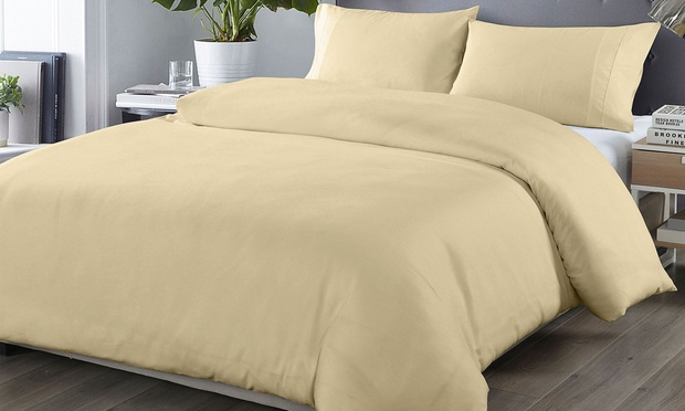 1000TC Ultra Soft Bamboo Rich Quilt Cover Set: Double ($27), Queen ($29) or King ($35)(Dont Pay up to $169)