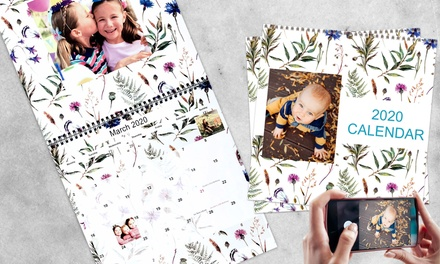 From $5 for a Personalised Portrait or Double Page A4 or A3 Wall Calendar (Dont Pay up to $124.75)