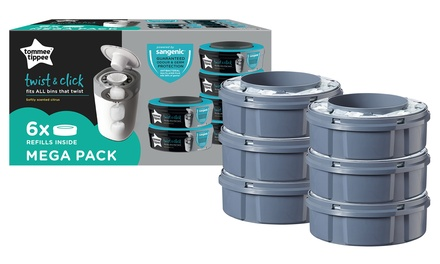 Tommee Tippee Twist and Click Nappy Disposal System Refill Cassettes: 6  ($59) or 12 Pack ($89) (Dont Pay up to $159.9)