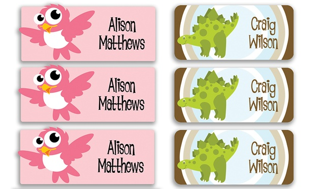 From $4.50 for a Multipack of Personalised Kids Vinyl Name Labels (Dont Pay up to $99.95)