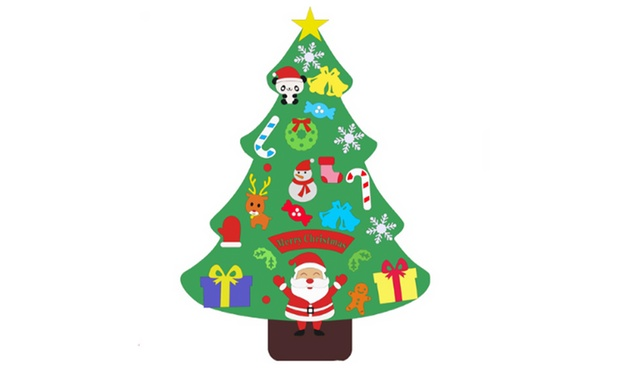 DIY Felt Christmas Tree Set: One ($15) or Two ($25)