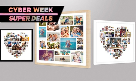 Personalised Collage Framed Print: Regular ($12) or Large ($20) (Dont Pay up to $134.90)