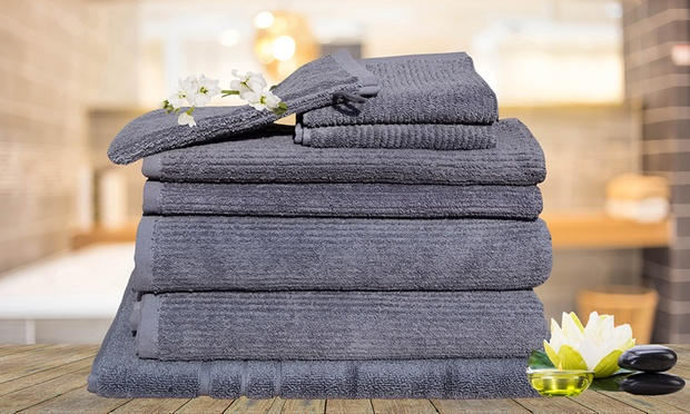 $29 for an Eight Piece Egyptian Cotton Bath Towel Set (Dont Pay $129.95)