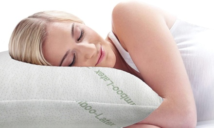 Bamboo Cover Latex Filling Pillow: Two Pack ($35) or Four Pack ($59). (Dont Pay up to $229)